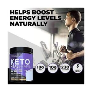 Keto Science Ketogenic Meal Shake Chocolate Dietary Supplement, Rich in MCTs and Protein, Keto...