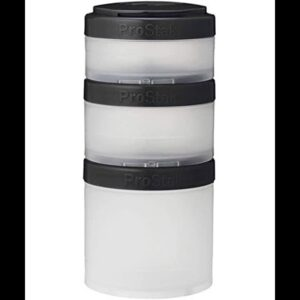 BlenderBottle pro stak ProStak Twist n' Lock Storage Jars Expansion 3-Pak with Pill Tray, 40cc,...