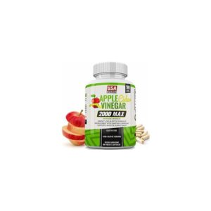 Organic Apple Cider Vinegar Pills - 1200mg, with Cayenne Pepper Powder - All Natural Digestion,...