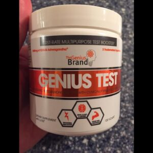 Genius Test - The Smart Testosterone Booster For Men  Natural Energy Supplement, Brain & Libid...