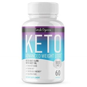 Keto Diet Pills 1000 Mg- Advanced Weight Loss Supplements- Burn Fat Instead of Carbs- 30 Day Su...
