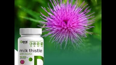 Deal Supplement Milk Thistle Extract 18,000mg with Inositol, 200 Capsules, Promotes Liver Healt...