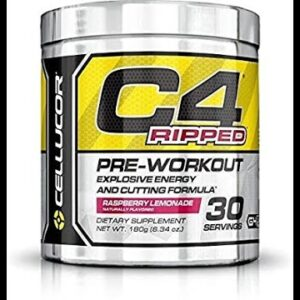 C4 Ripped Sport Pre Workout Powder Arctic Snow Cone - NSF Certified for Sport + Sugar Free Prew...