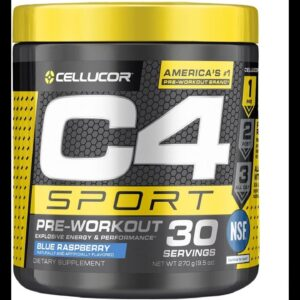 C4 Sport Pre Workout Powder Blue Raspberry  NSF Certified for Sport + Preworkout Energy Supple...