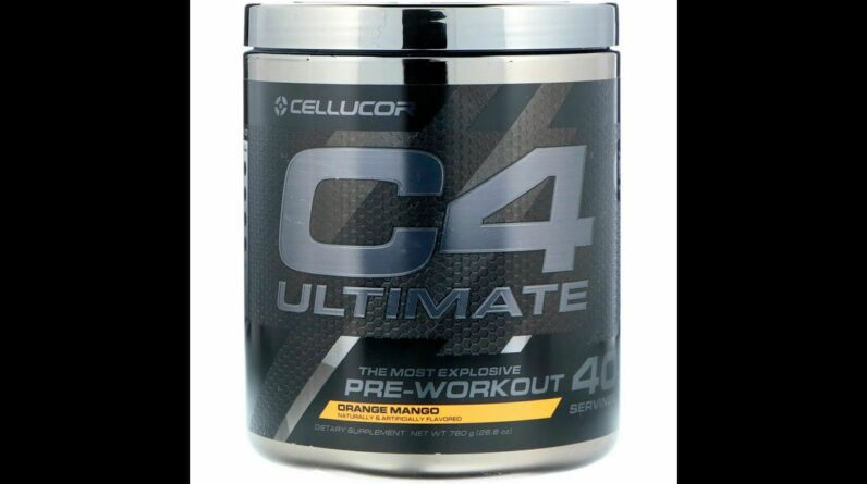 Cellucor C4 Ultimate Pre Workout Powder Orange Mango  Sugar Free Preworkout Energy Supplement...