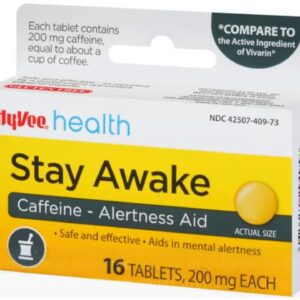 Rite Aid Stay Awake Caffeine, 200 mg - 40 Tablets  Caffeine Pills
