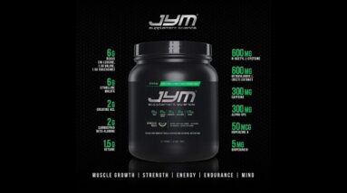 Pre JYM Pre Workout Powder - BCAAs, Creatine HCI, Citrulline Malate, Beta-Alanine, Betaine, and...